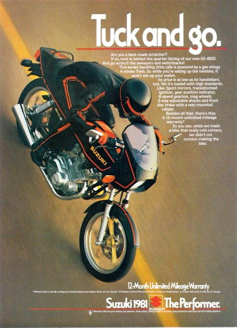 Suzuki Advertisement Suzuki Gs450s Magazine Ads