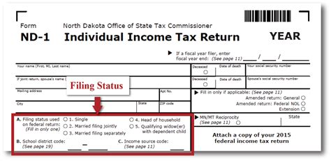 income tax return filing sections refund help north dakota office of state tax commissioner