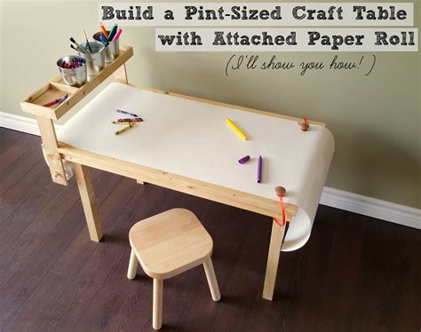 craft table with paper roll holder turtles and tails diy children s craft table with paper roll
