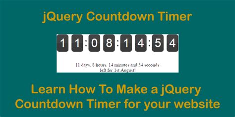 jquery tutorial timer learn how to create a countdown timer using jquery