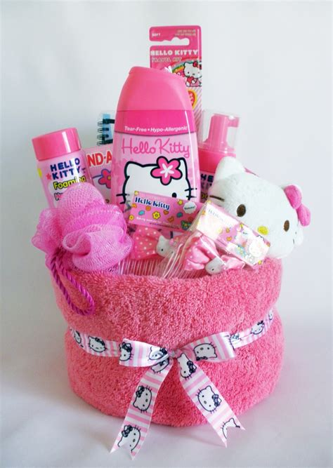 themes in the girl with all the gifts hello kitty towel cake for girls cute gift ideas