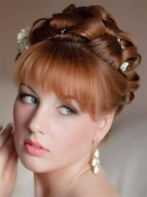 elegant hairstyles with bangs wedding updos with bangs wedding updo with bangs