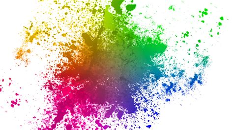 color splatters on white background motion background