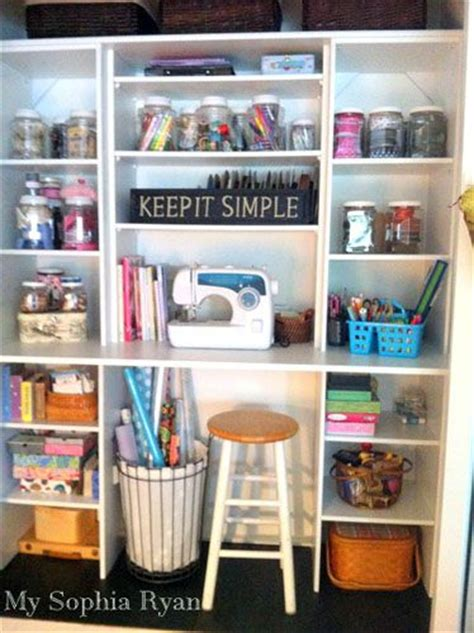 Sewing Closet Organization by A Standard Closet Transformed Into A Craft Work Station By
