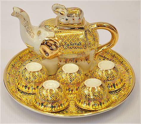 Cangkir Kopi Teh Set Coffee Tea Set Cup Merk Regency Motif Lavender tea set yodtien pattern shiny elephant in yellow gold color tea time patterns