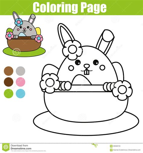 easter bunny coloring pages games coloring page with easter bunny character printable