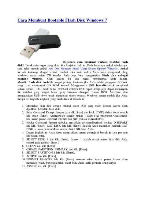 cara membuat power point windows 7 cara membuat bootable flash disk windows 7
