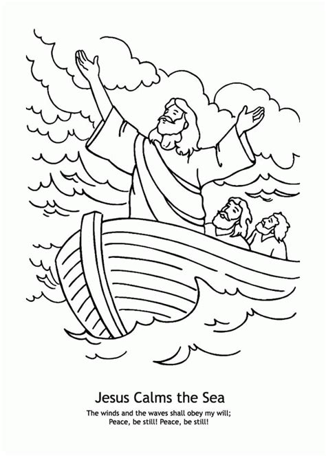 coloring pages jesus calms the jesus calms the coloring pages coloring home