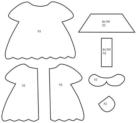 clothes pattern templates 56 best images about rag doll clothing sewing ideas on