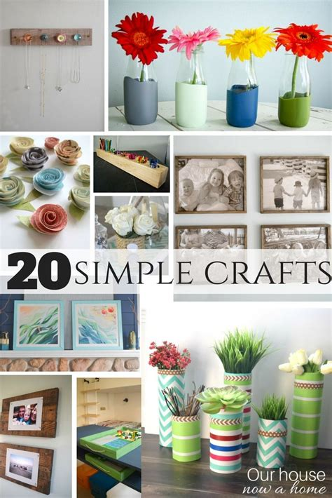 Easy Crafts To Decorate Your Home 25 Best Simple Craft Ideas On Home Crafts Craft Ideas And Diy