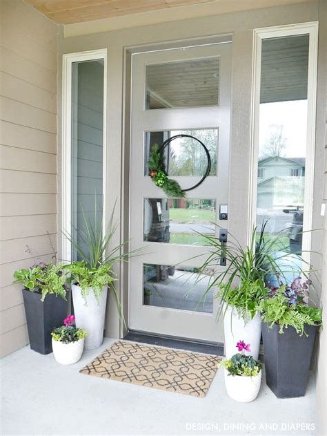home front decor ideas best 25 front door planters ideas on pinterest front