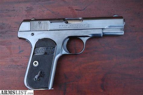 Colt Auto by Armslist 1903 Colt Automatic 32 Hammerless Pistol