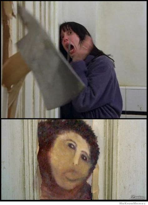 Jesus Painting Restoration Meme - best of the ecce homo botch fresco jesus painting meme
