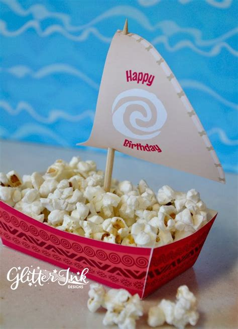 moana boat decoration moana polynesian boat food snack trays and sail toppers