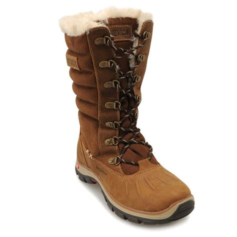 nevica womens vail snow boots faux fur lace up