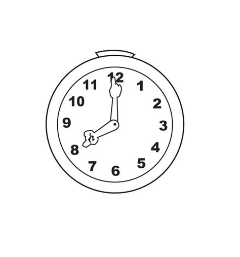 printable clock pictures free printable clock coloring pages for kids