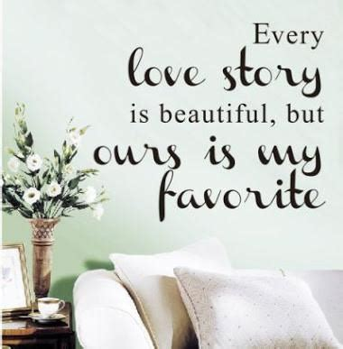 home decor slogans our love story wall sticker fun walls