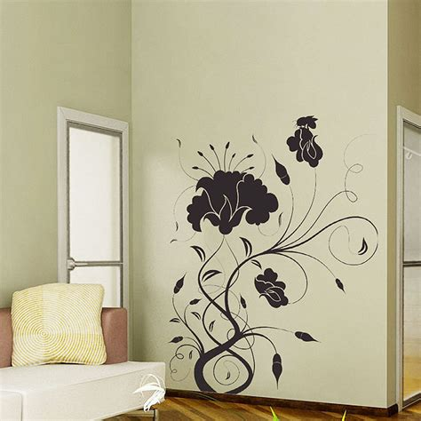 vinyl wall flower swirl vinyl wall decal
