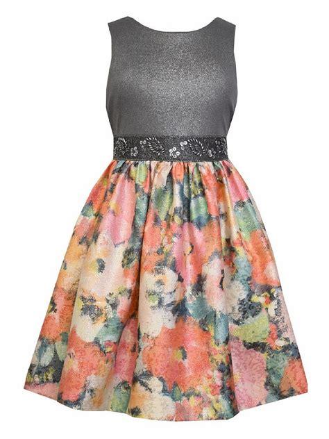 bonnie jean bonnie jean floral metallic dress