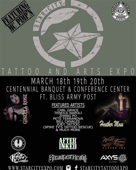 tattoo expo fort bliss star city tattoo arts festival fort bliss texas