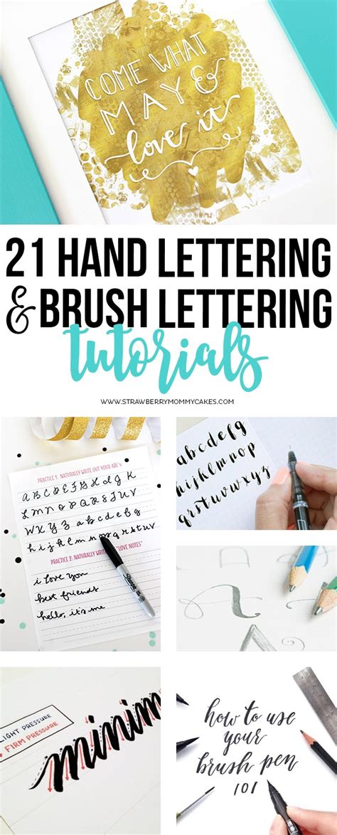 free tutorial hand lettering 21 hand lettering and brush lettering tutorials
