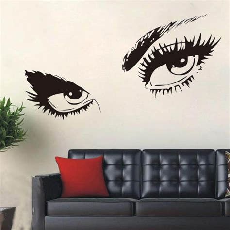 black art home decor sexy eyes wall sticker home decor vinyl art home black