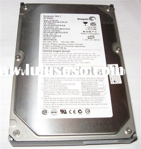 Hardisk Seagate 40gb disk drive 40gb ide disk drive 40gb ide