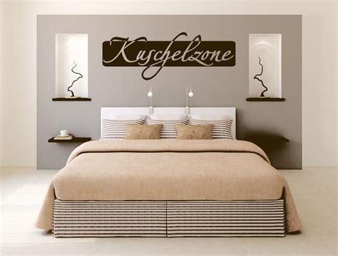 schlafzimmer wanddeko kuschelzone wandtattoo aufkleber schlafzimmer spruch