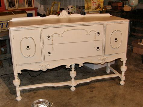 shabby chic buffet antique sideboard turquoise distressed
