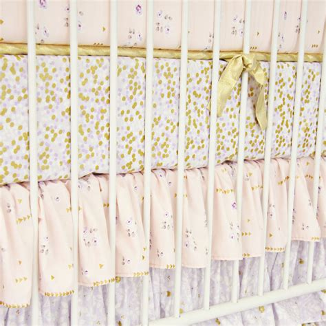 lilac and gold sparkle crib sheet by caden