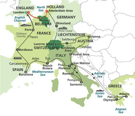 map uk to italy switzerland tour packages 2014 cosmos sedunia travel