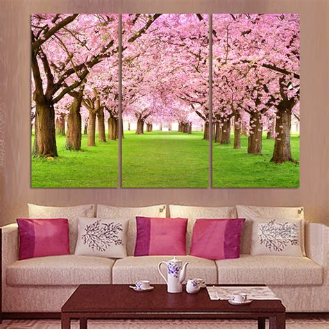 3 panel hd print cheap decorative flower abstract modern aliexpress com buy 3 panel wall abstract painting pink