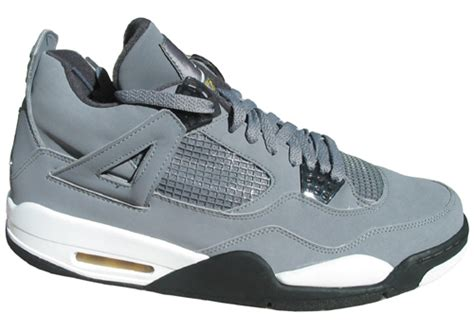 Air 4 Cool Grey Grade School by Air Retro 4 Iv Cool Grey Gs