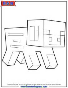 minecraft coloring pages free loup minecraft coloring pages