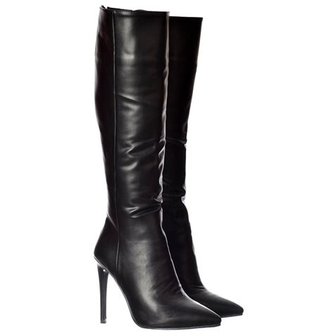 high heel work boots for womens stiletto work high heel pointed toe knee high