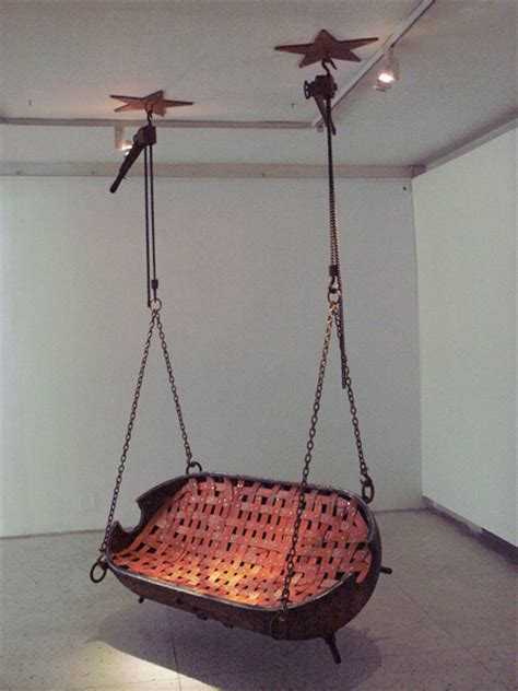 hanging swing from ceiling mine furniture
