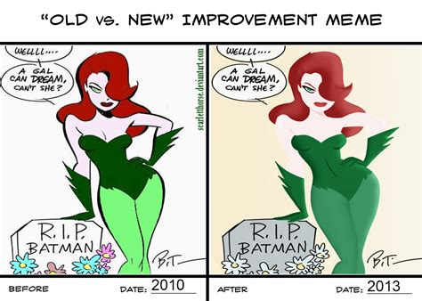 Poison Ivy Meme - poison ivy old vs new by scarlettsorceress on deviantart