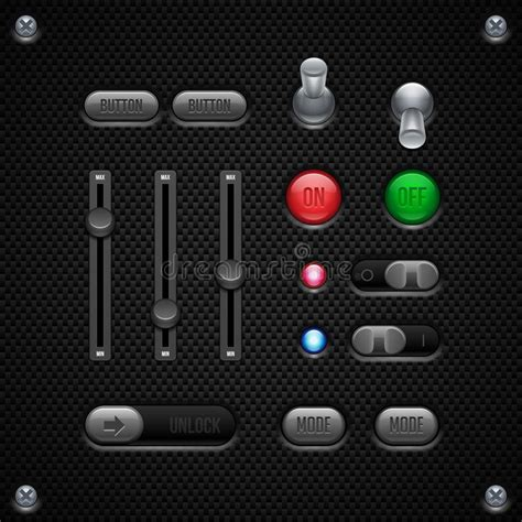 ui controller pattern carbon ui application software controls set switch knobs
