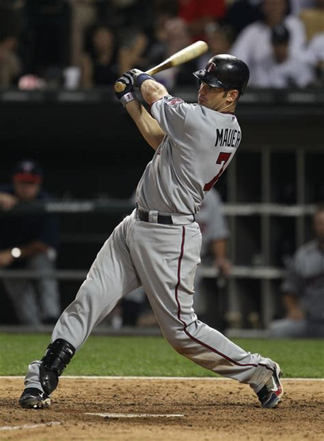 joe mauer swing joe mauer pictures 2010 mlb playoffs zimbio