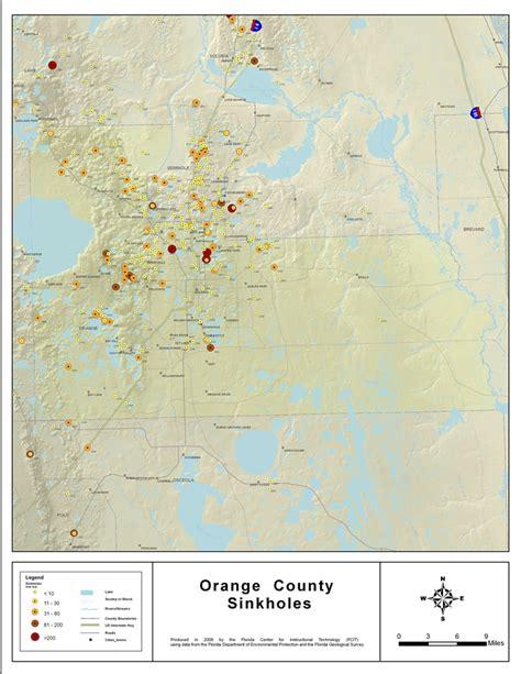 map orange county florida sinkholes of orange county florida 2008