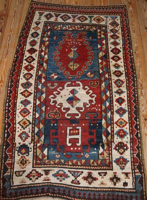 caucasian rug antique caucasian bordjalou kazak rug of abstract design late 19th century 269192