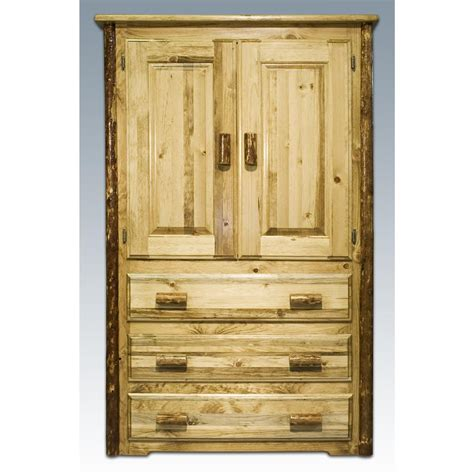 bedroom sets with armoire montana woodworks 174 glacier country armoire 178320