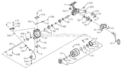 penn reel diagrams penn 260 parts list and diagram ereplacementparts