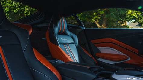 aston martin vantage color white stone interior