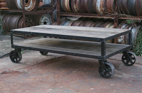 rustic sofa table with wheels combine 9 industrial furniture coffee table