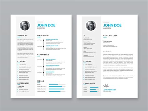 Resume Portfolio Template Free by Free Simple Resume Template With Portfolio And Cover Letter