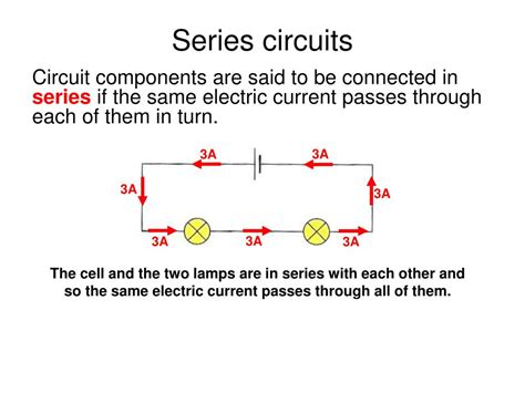 series circuits definition physics ppt aqa gcse physics 2 5 current electricity powerpoint presentation id 418298