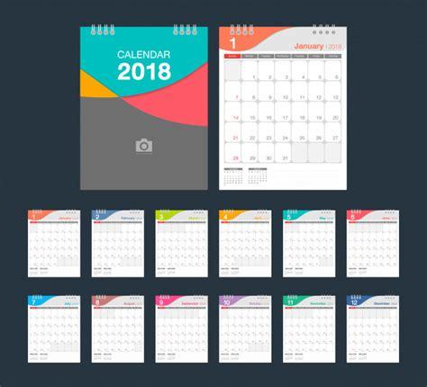 desk calendar design 2018 2018 calendar desk calendar modern design template