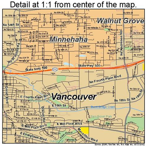 vancouver usa map vancouver washington usa map from center of map