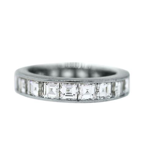 platinum 3 5 ctw asscher cut eternity band ring